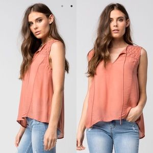 O'Neill Sira Sleeveless Top in Rose
